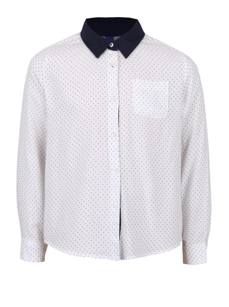 Modro-bílá holčičí puntíkovaná košile s dlouhým rukávem 5.10.15.
