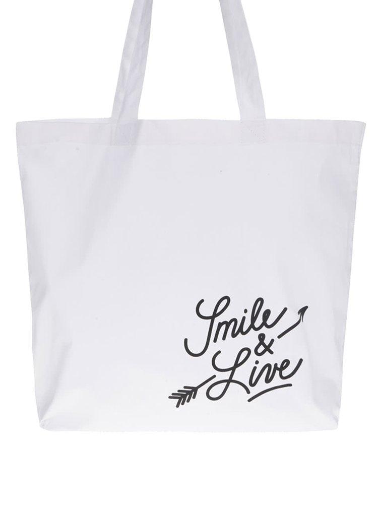"""""""Dobrá"""" bílá plátěná taška pro Dove"""