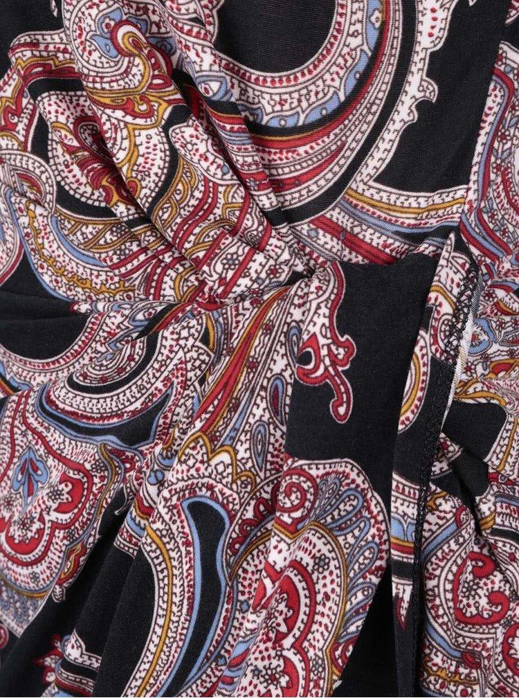 Rochie asimetrica Mela London neagra cu imprimeu