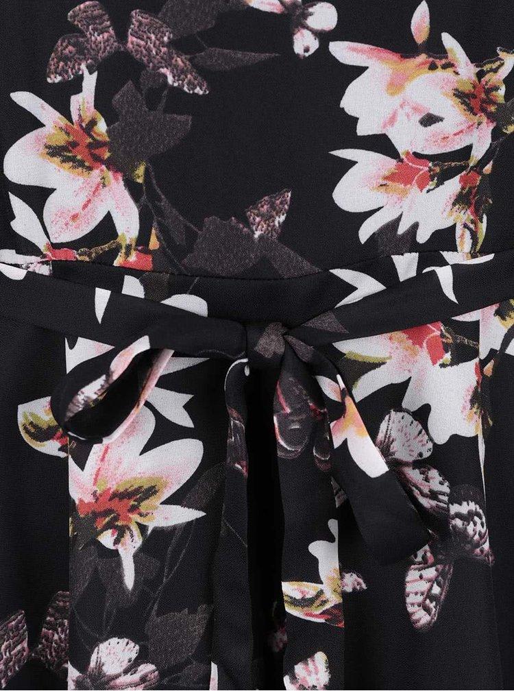 Rochie neagră Mela London cu imprimeu