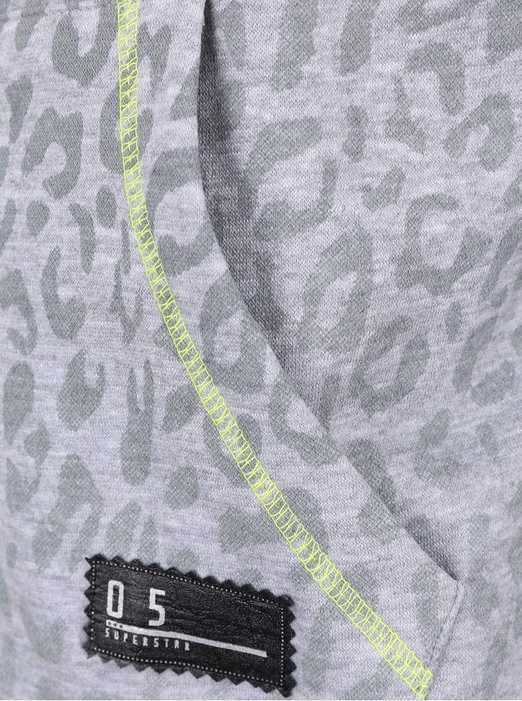 Šedá holčičí mikina se vzorem a žlutými detaily 5.10.15.