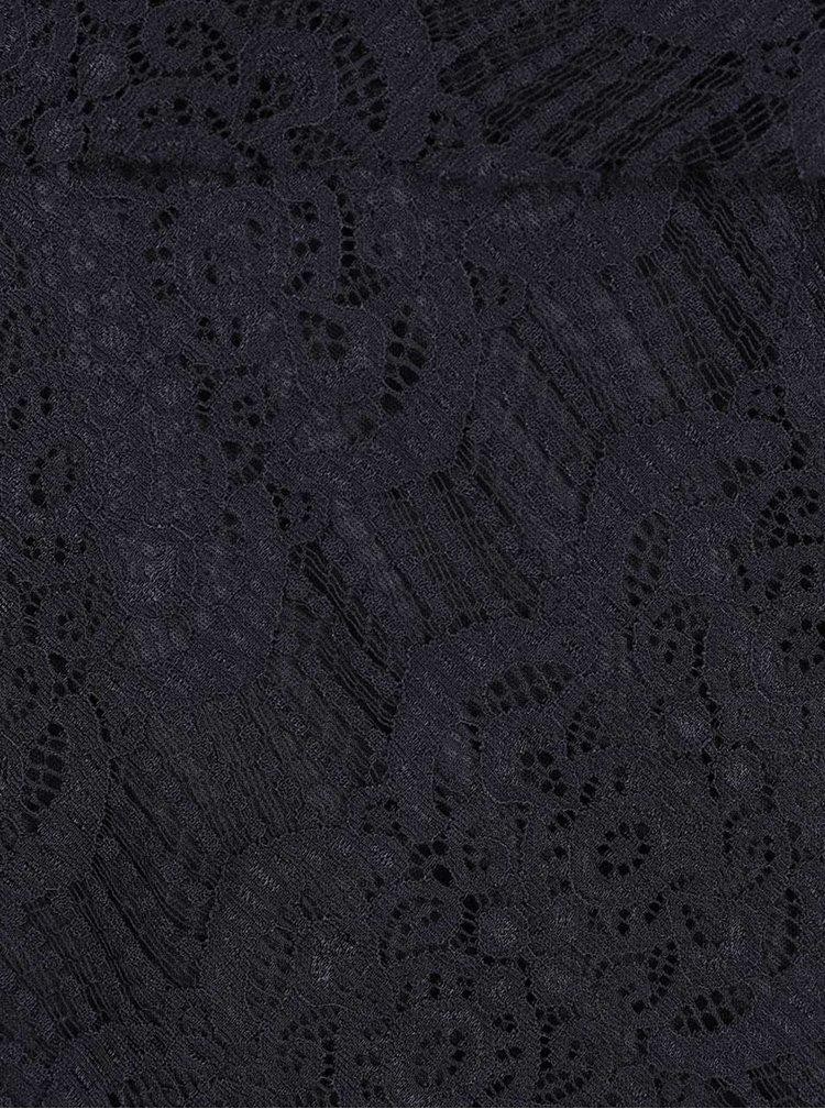 Čierne čipkované minišaty Mela London