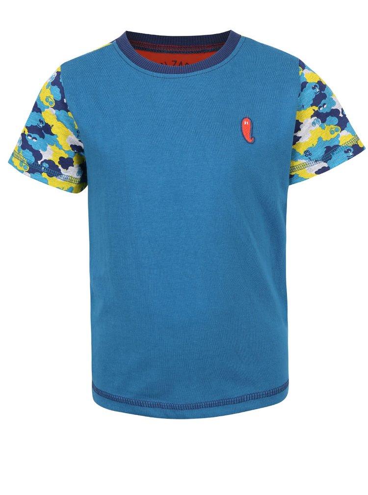 Modré chlapčenské tričko so vzorovanými rukávmi 5.10.15.