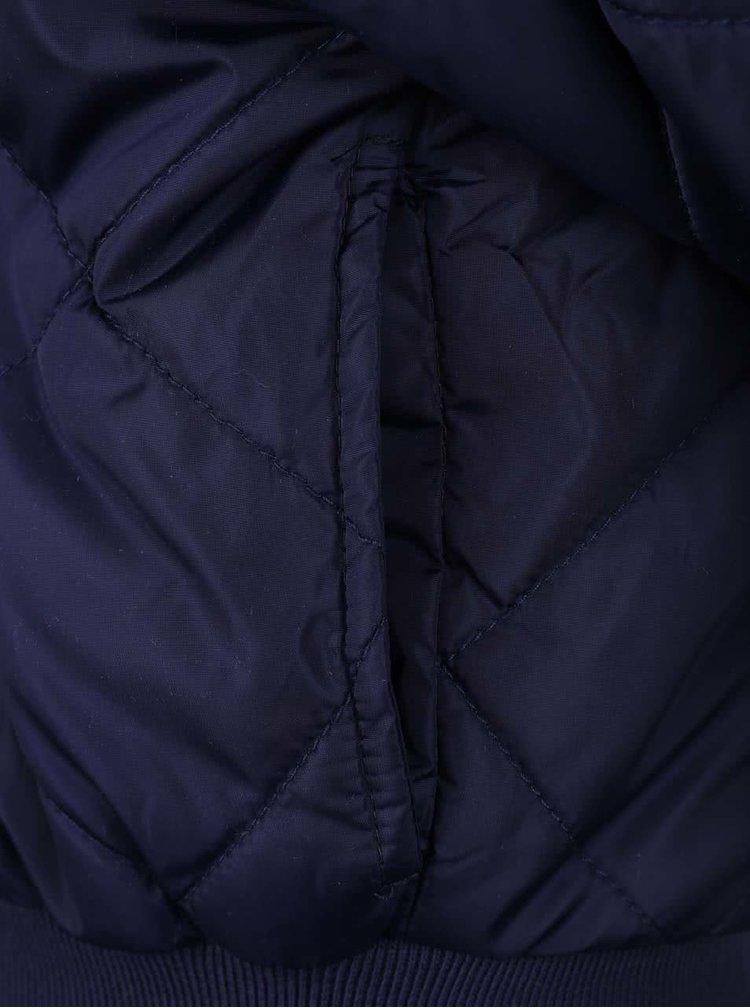 Tmavomodrá dievčenská prešívaná bunda 5.10.15.
