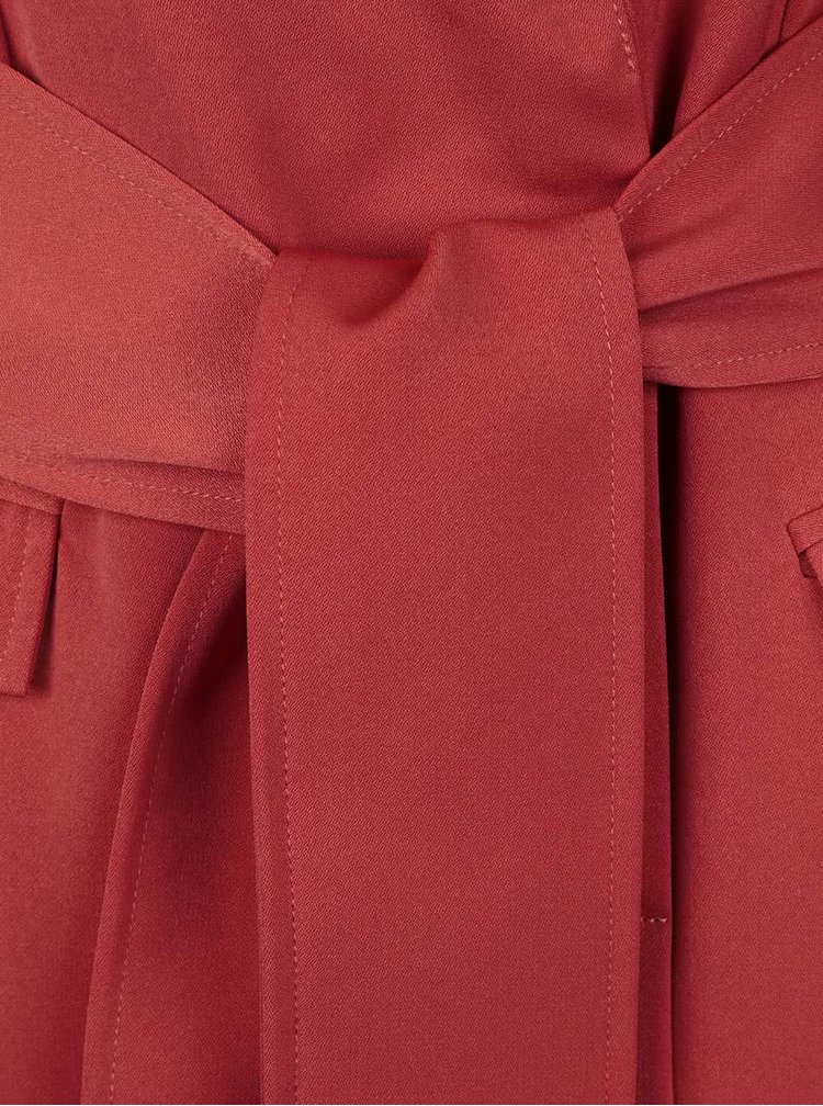 Tehlové zavinovacie šaty bez rukávov LYDC