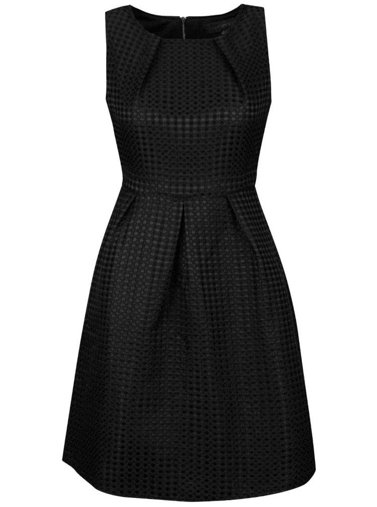 Rochie neagra Mela London cu material texturat
