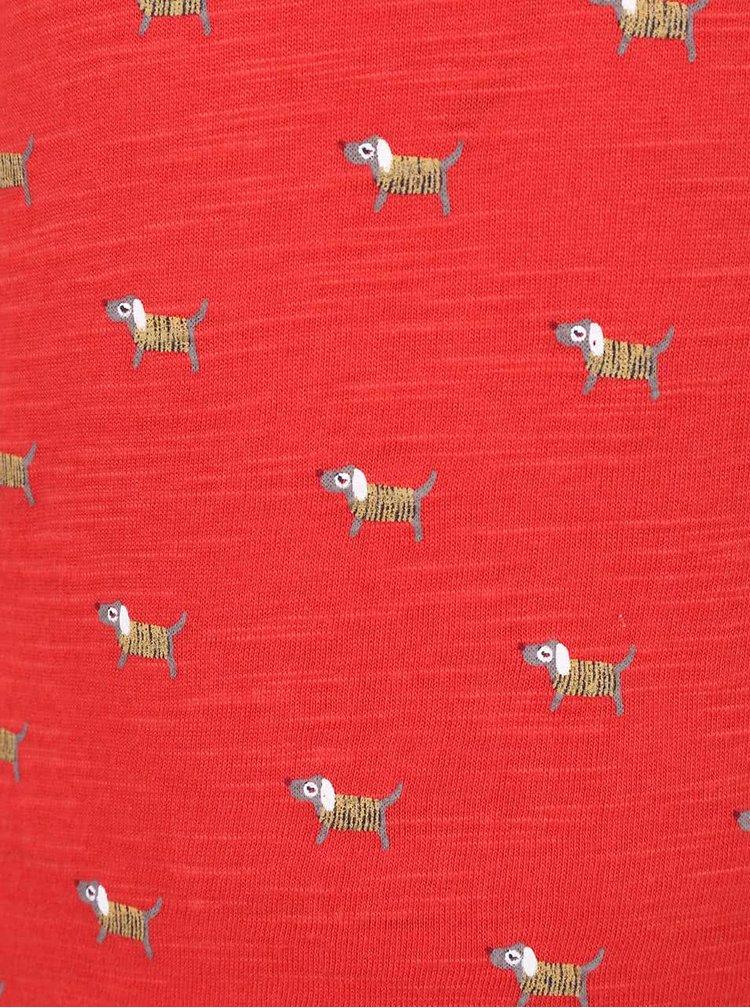 Červené holčičí vzorované tričko s dlouhým rukávem 5.10.15.