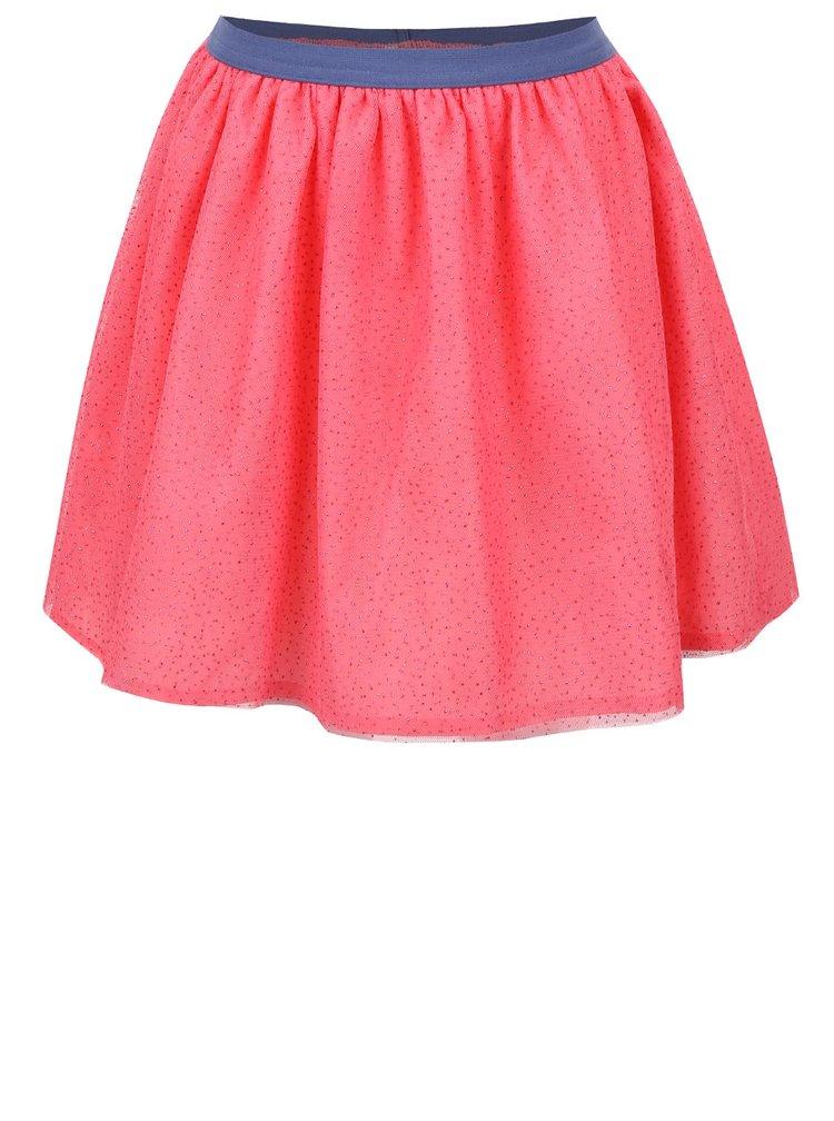 Ružová dievčenská sukňa s trblietavým vzorom 5.10.15.