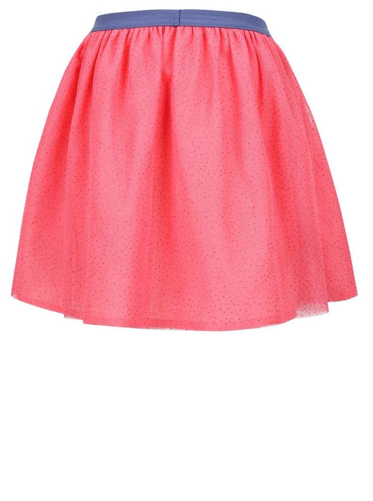 Růžová holčičí sukně s třpytivým vzorem 5.10.15.