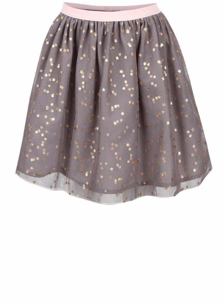 Sivá dievčenská sukňa s hviezdičkami 5.10.15.