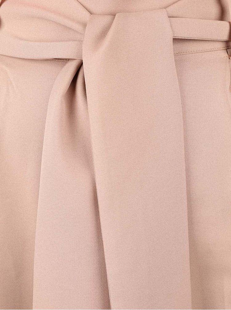 Béžové culottes s šerpou v pase LYDC