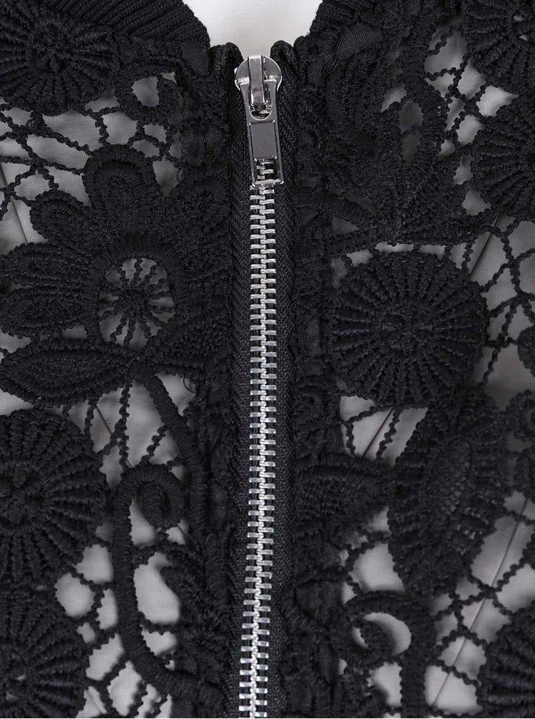 Rochie neagră dantelă LYDC