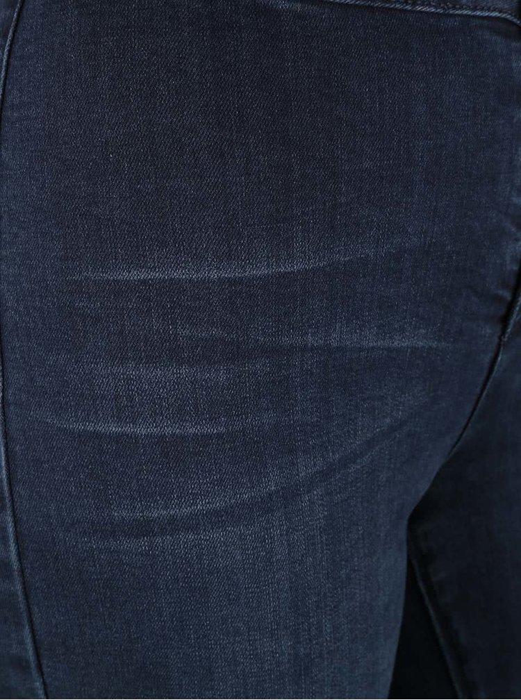 Tmavě modré skinny džíny s vysokým pasem Dorothy Perkins
