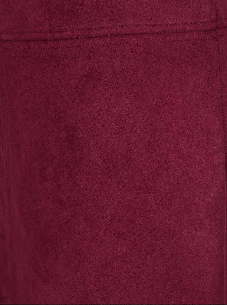 Vínová sukňa v semišovej úprave Wolf & Whistle