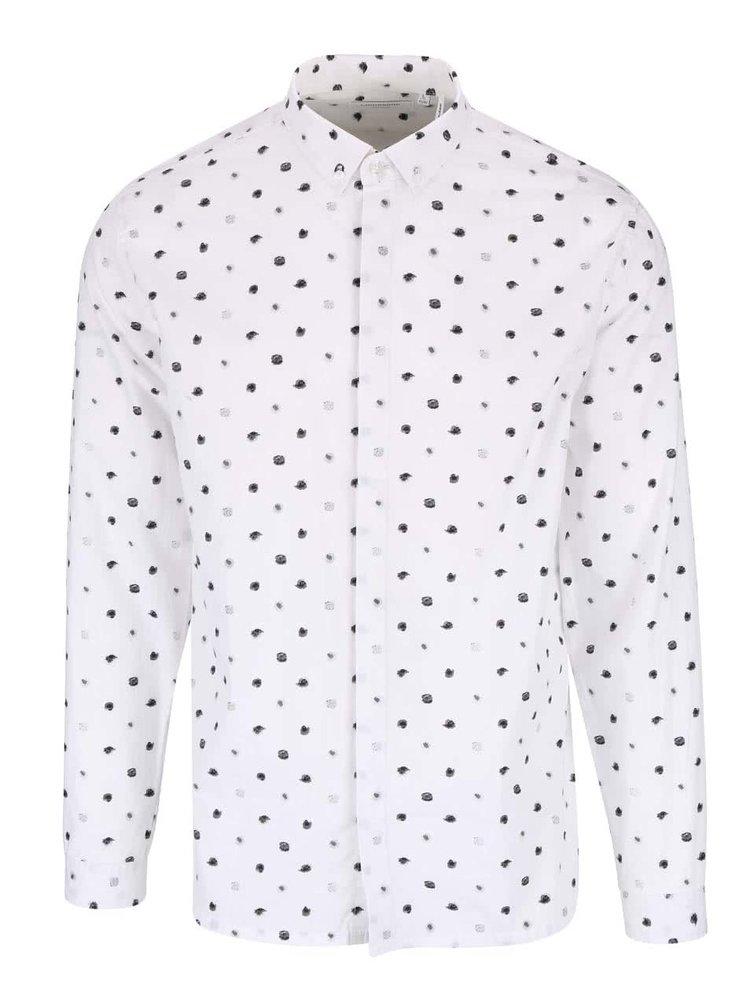 Krémová košile s puntíky Lindbergh