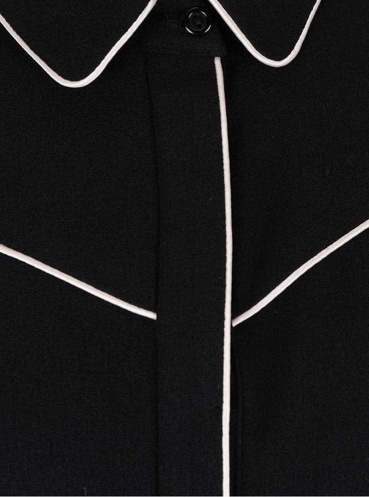 Rochie tip cămașă Dorothy Perkins neagră