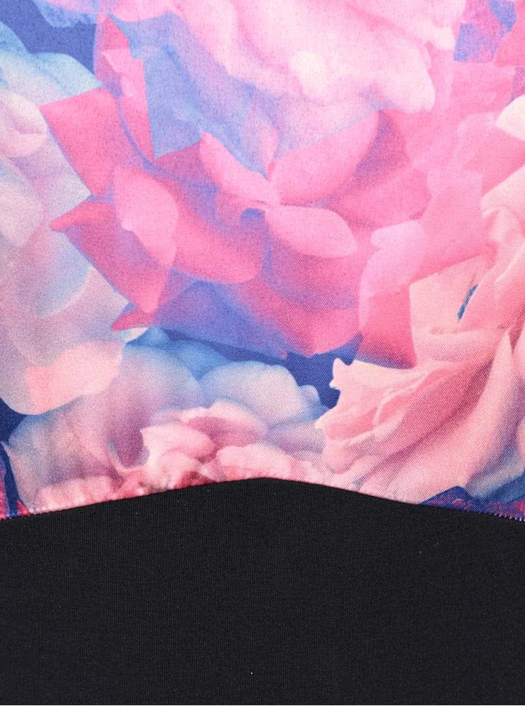 Rochie neagra cu imprimeu floral Wolf & Whistle