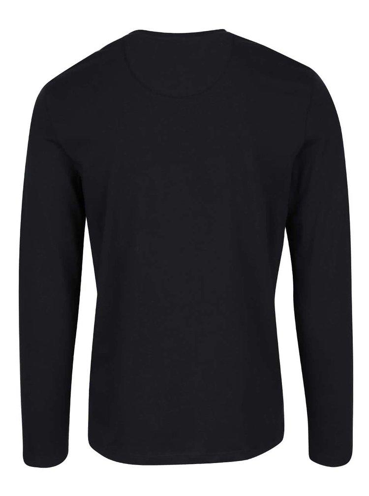 Bluză neagră Selected Homme Niklas din bumbac