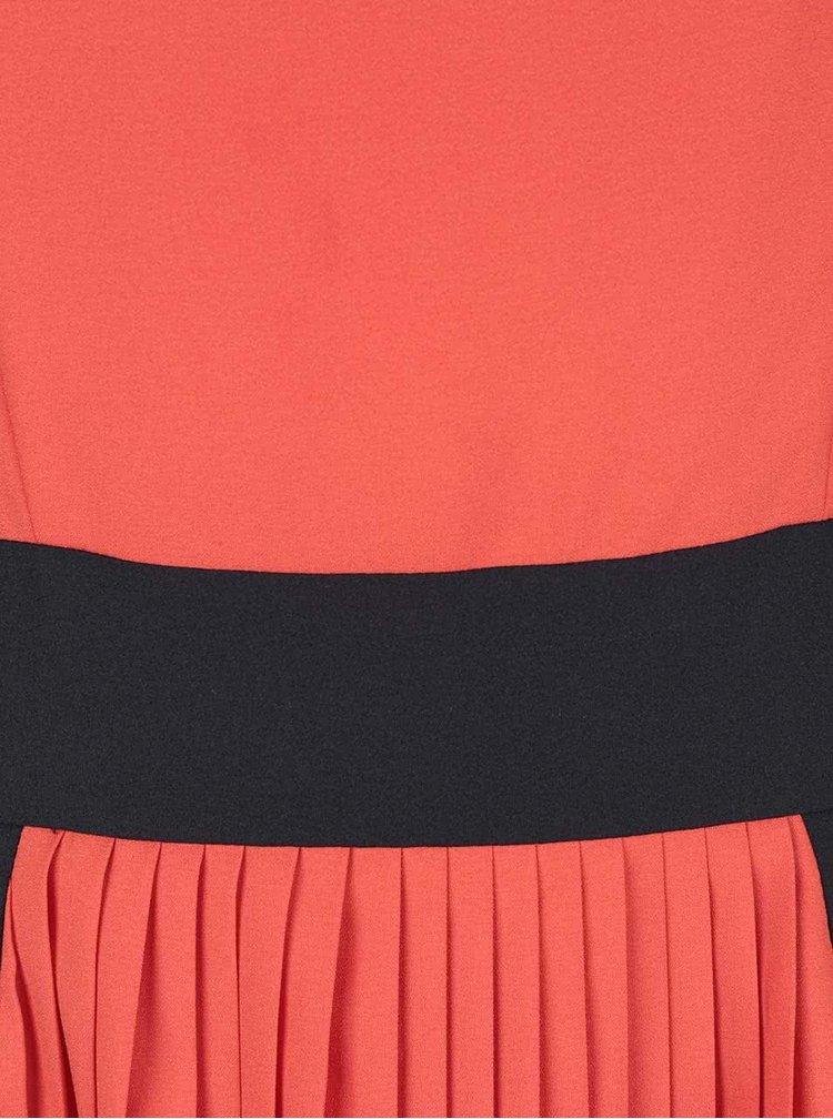Rochie portocaliu cu negru Wolf & Whistle