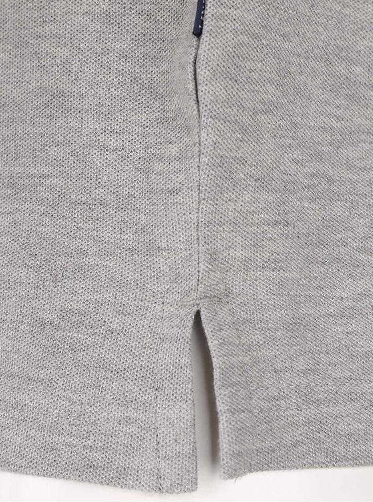 Sivá melírovaná polokošeľa s krátkym rukávom Lindbergh