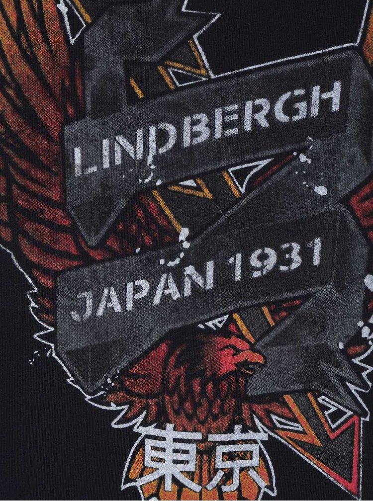 Tricou albastru-închis Lindbergh cu print
