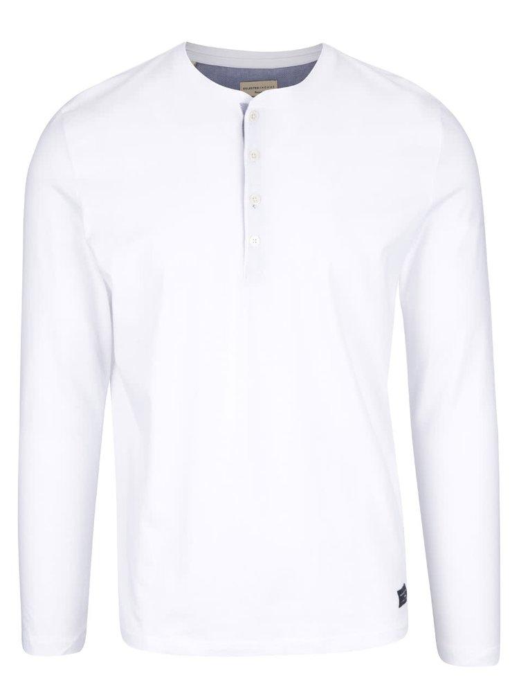 Bílé triko s dlouhým rukávem Selected Homme Niklas