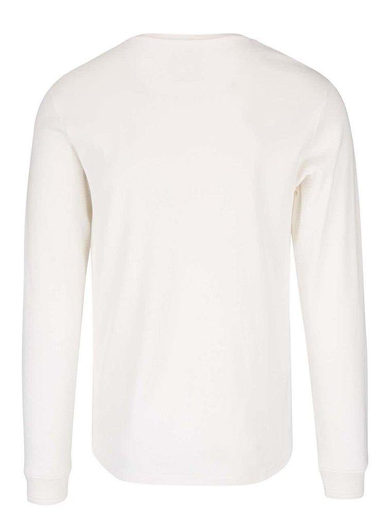 Krémové triko s knoflíčky Lindbergh