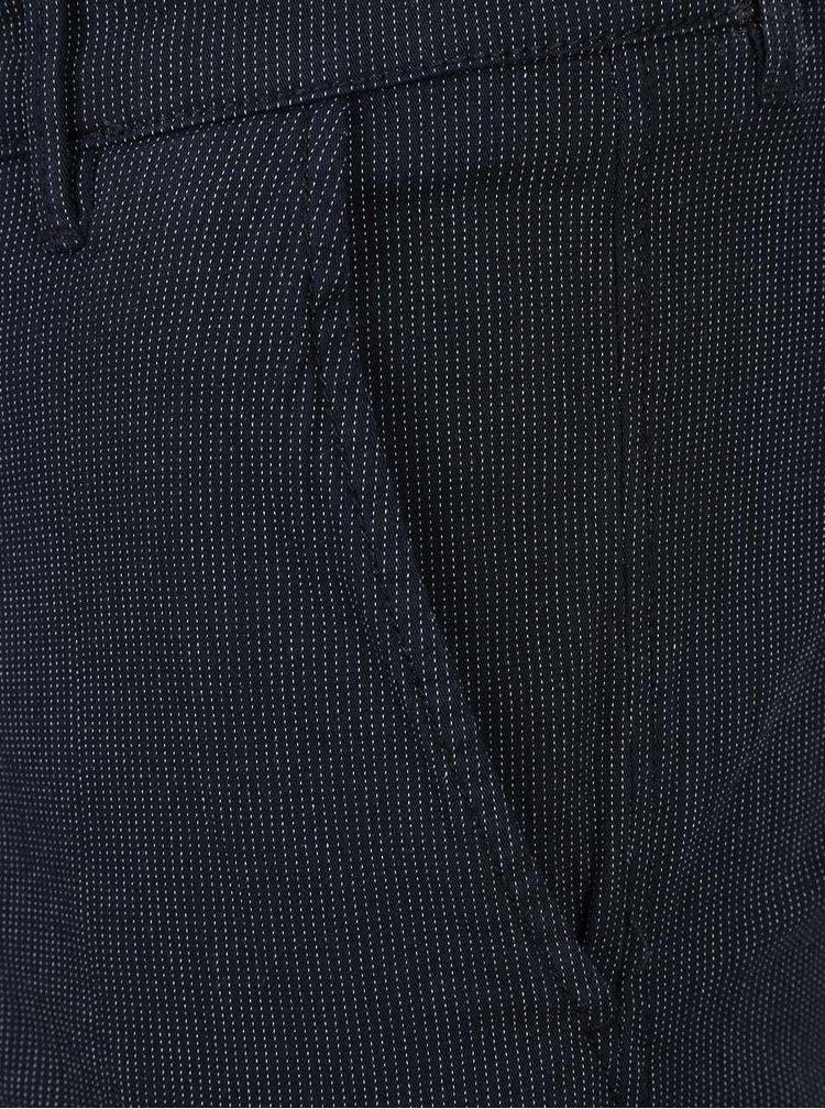 Tmavě modré kraťasy Selected s proužky Homme Paris