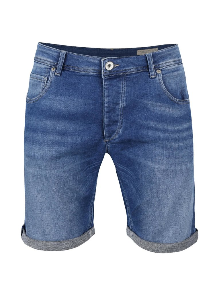Pantaloni scurti albastri Selected Homme Pep din denim