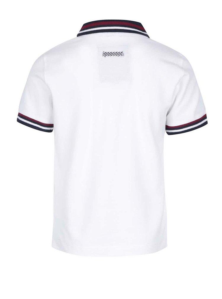 Bílé klučičí polo triko s modrým límečkem 5.10.15.
