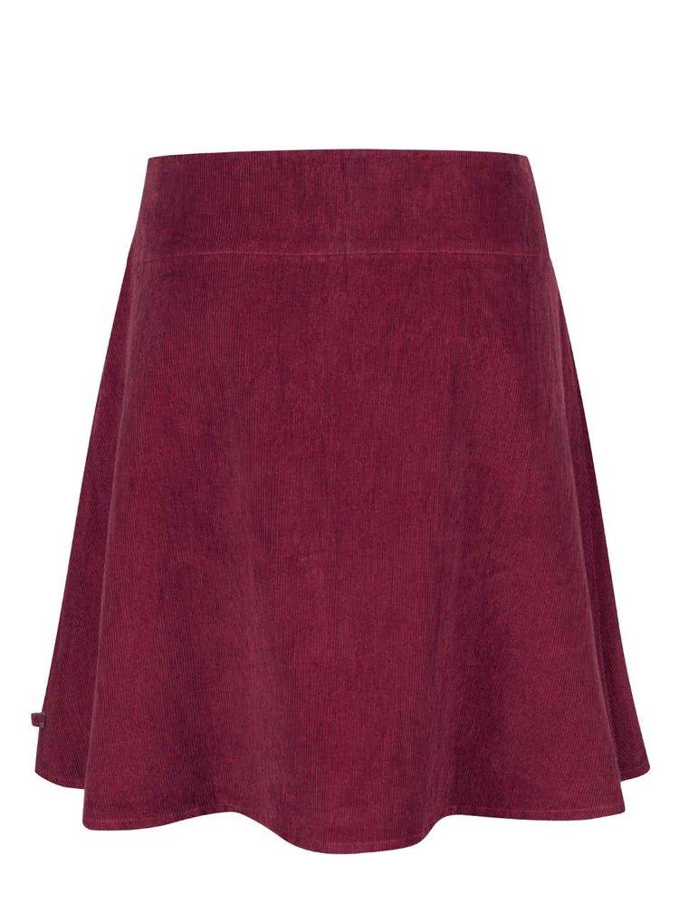 Fuksiová menčestrová sukňa s výšivkami Tranquillo Tito