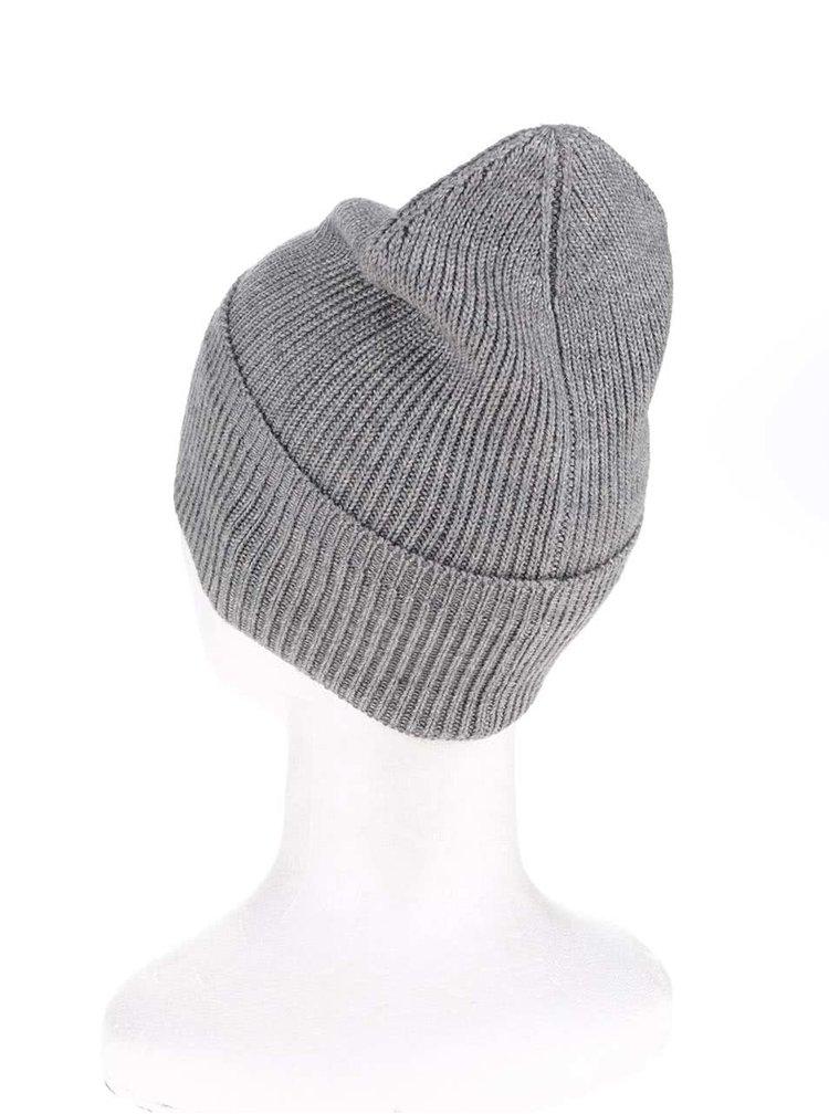 Šedá zimní čepice Shine Original