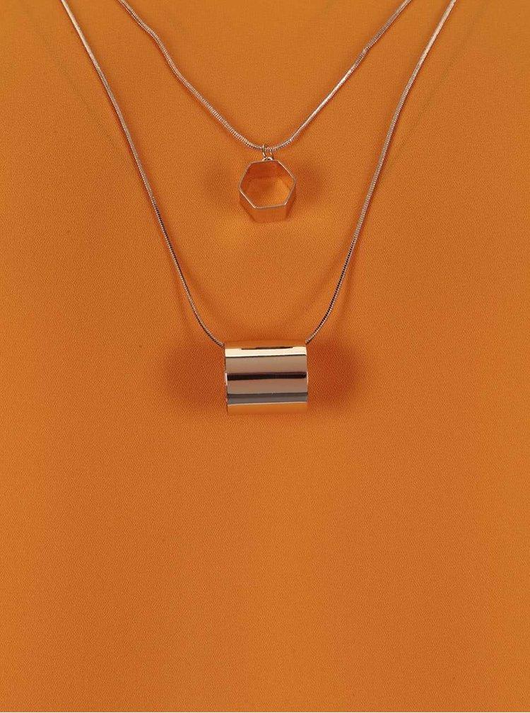 Oranžová halenka s náhrdelníky ve zlaté barvě Dorothy Perkins