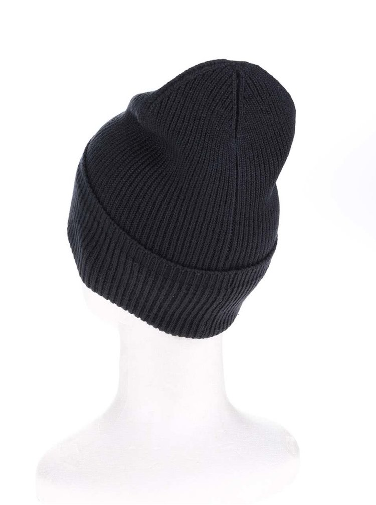 Tmavomodrá zimná čiapka Shine Original