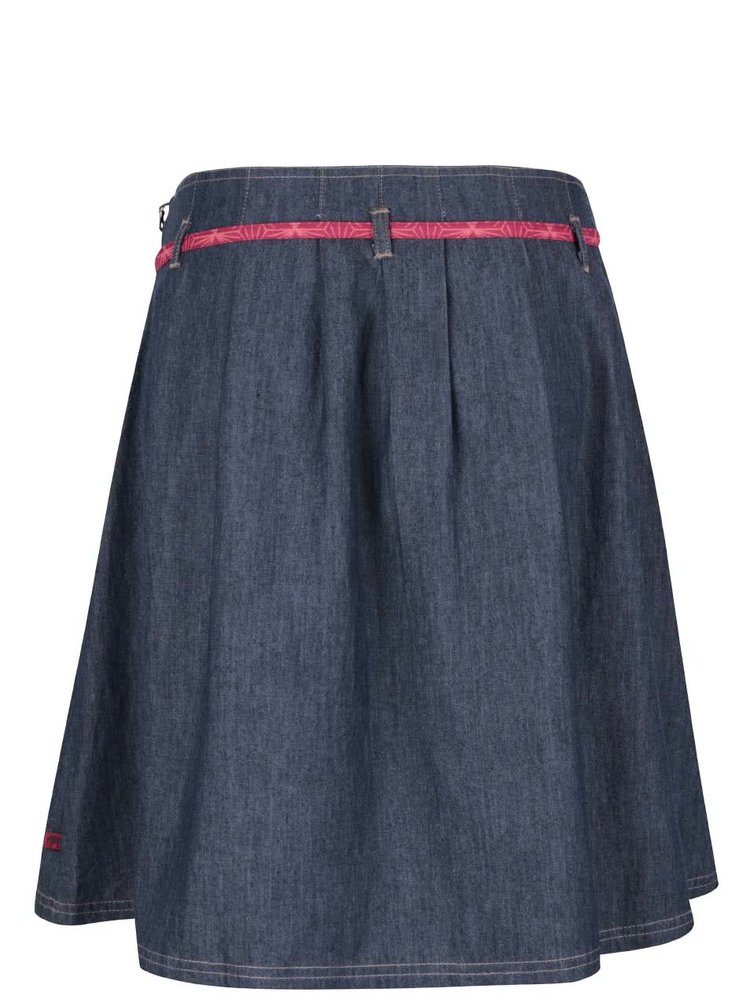 Modrá rifľová sukňa s fuksiovou mašľou Tranquillo Malmö