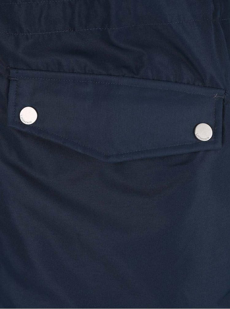 Tmavě modrá delší bunda s kapucí Lindbergh