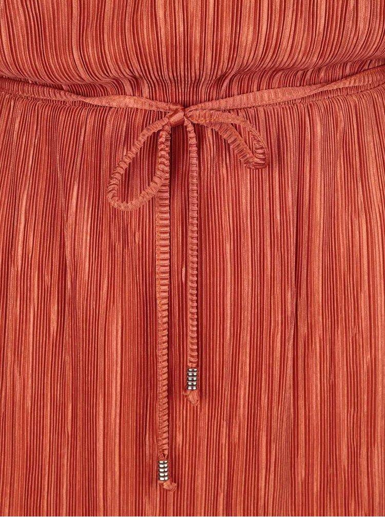 Oranžové plisované šaty Dorothy Perkins