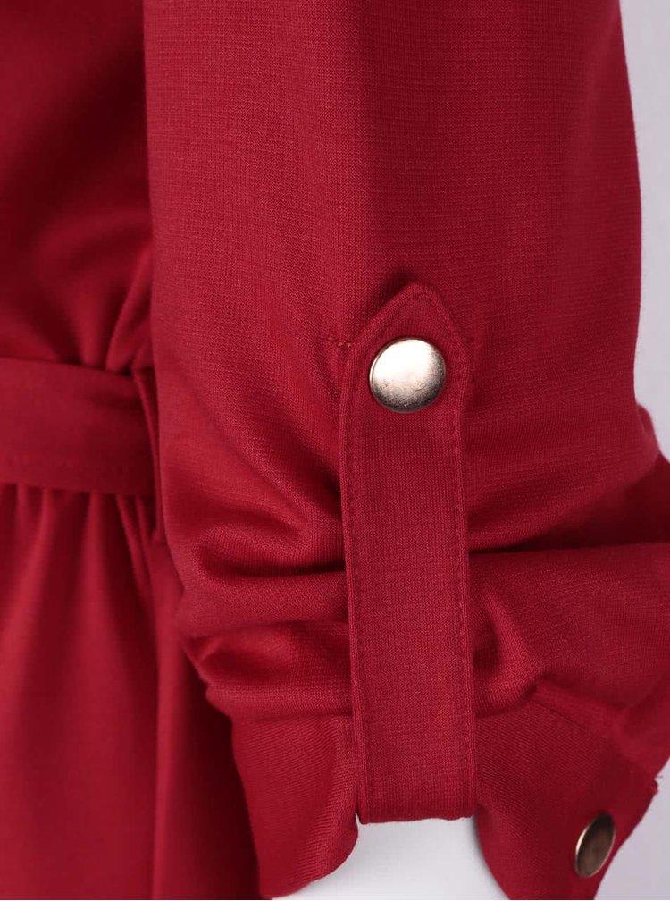 Červené šaty s 3/4 rukávy Dorothy Perkins