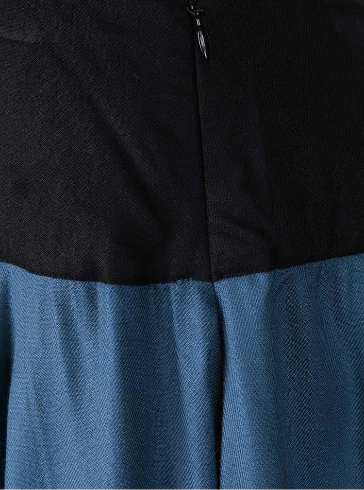 Černo-modrá překládaná sukně Tranquillo Bastin