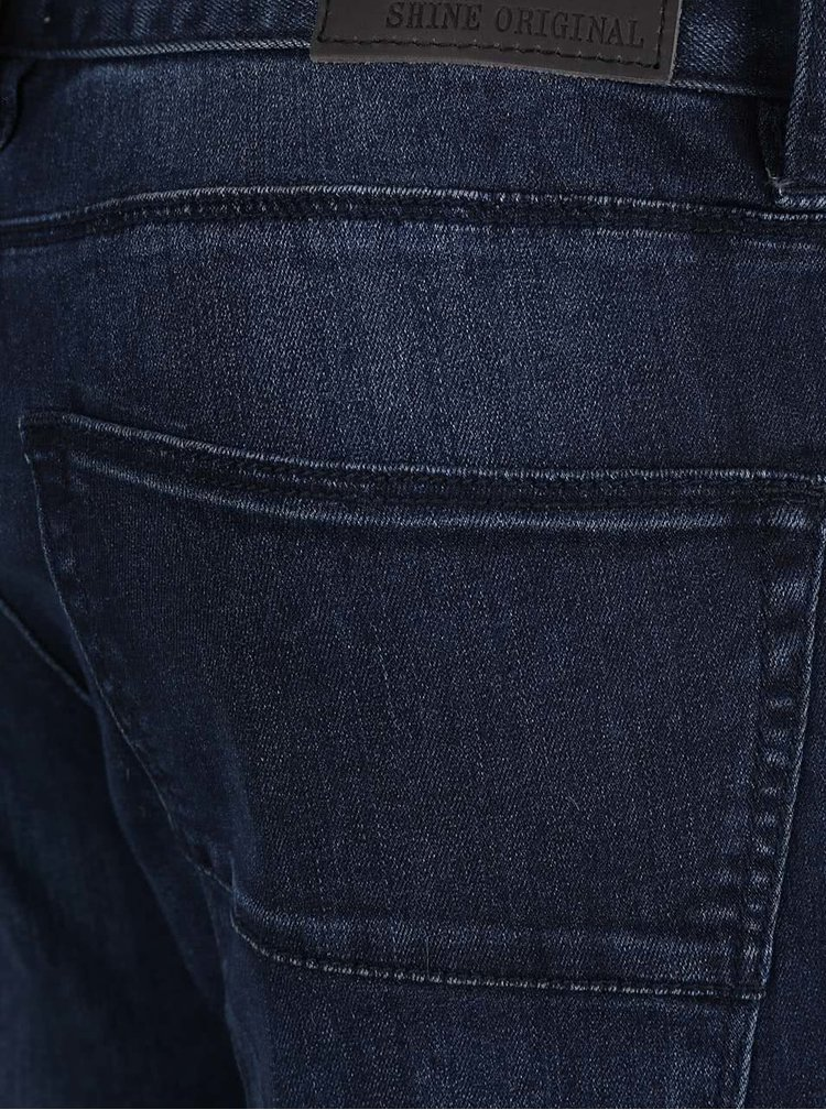 Tmavě modré skinny džíny Shine Original