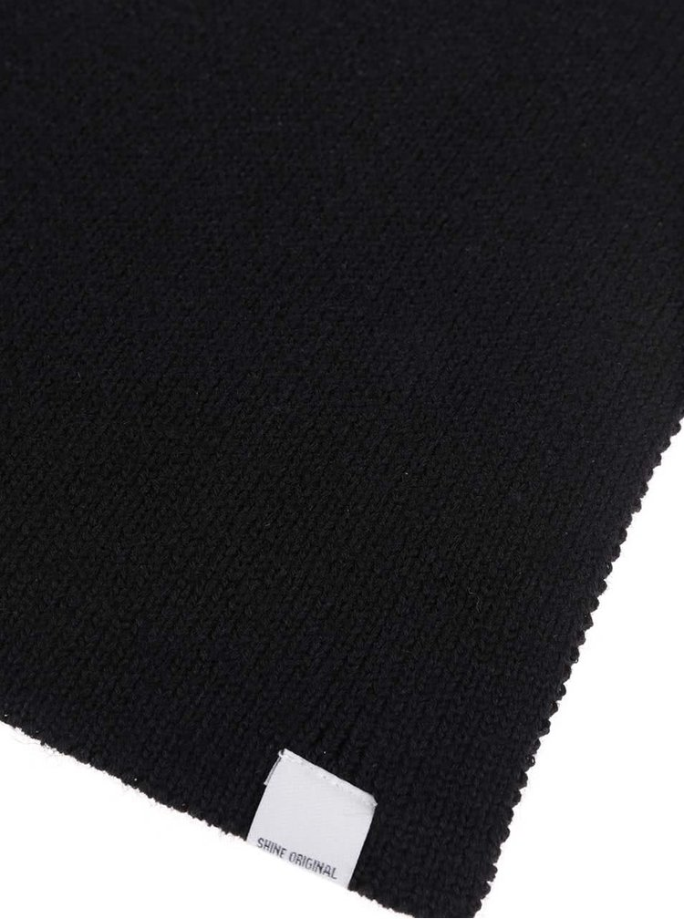 Čierny šál Shine Original