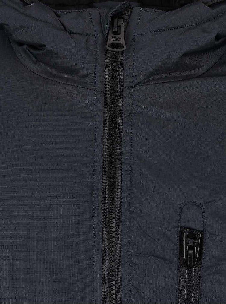 Tmavě modrá bunda s kapucí Shine Original