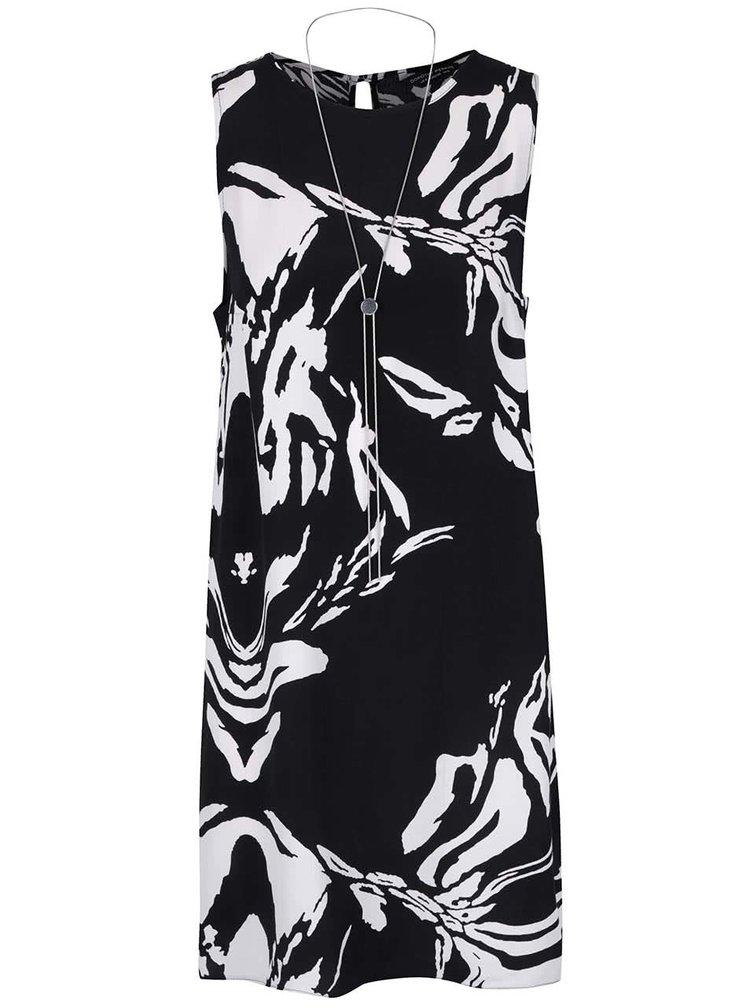 Krémovo-čierne šaty s náhrdelníkom Dorothy Perkins