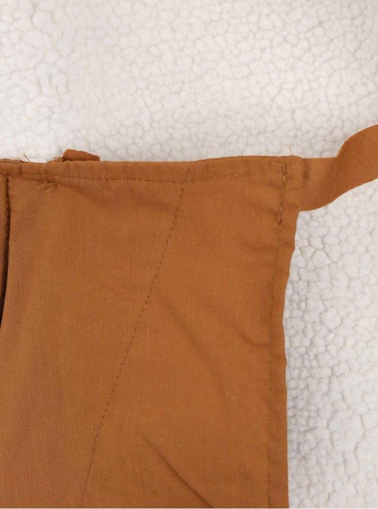 Jacheta maro Shine Original cu fermoar asimetric