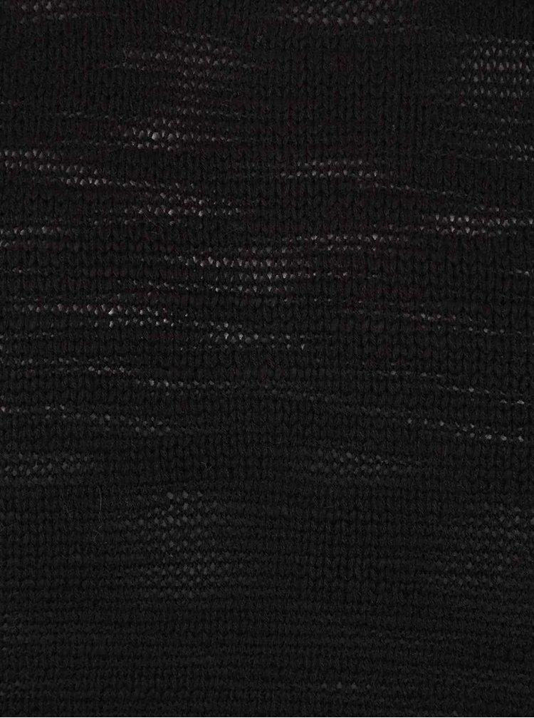 Černý žíhaný svetr Shine Original