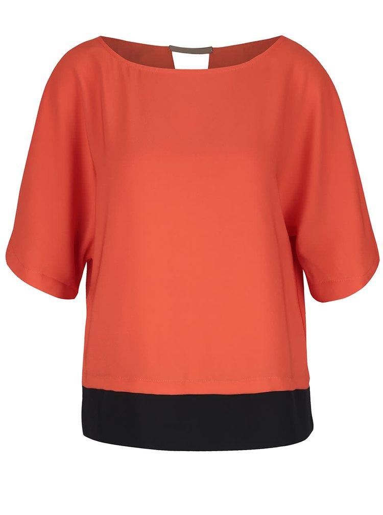 Bluză Dorothy Perkins portocaliu cu negru