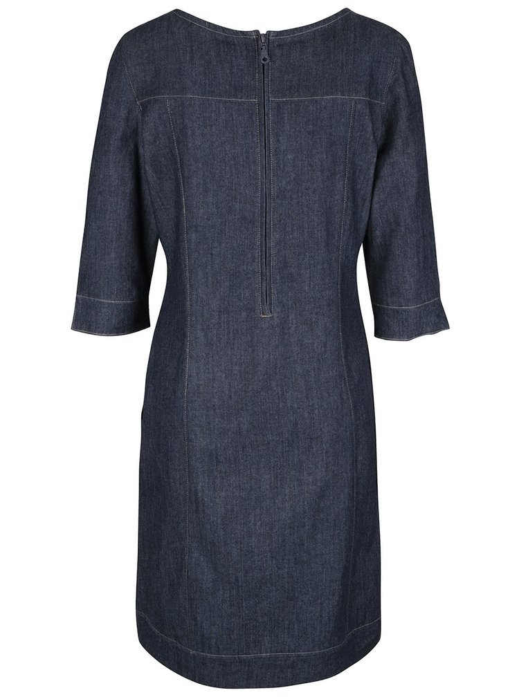 Modré džínové šaty s 3/4 rukávy Tranquillo Buri