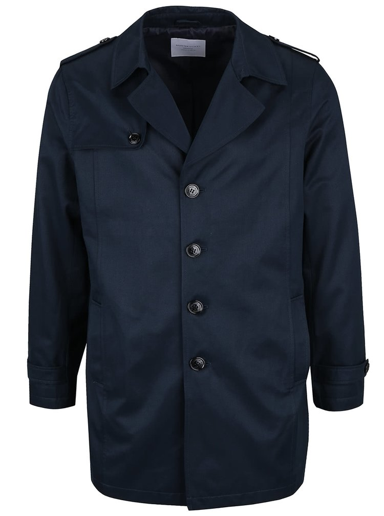 Tmavě modrý lehký kabát Selected Homme New Adams