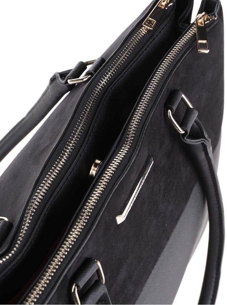 Černá kabelka se semišovou úpravou Dorothy Perkins