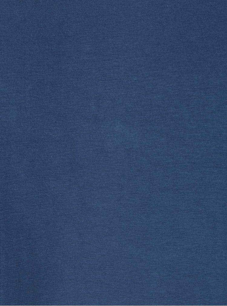 Modré tričko s okrúhlym výstrihom Shine Original